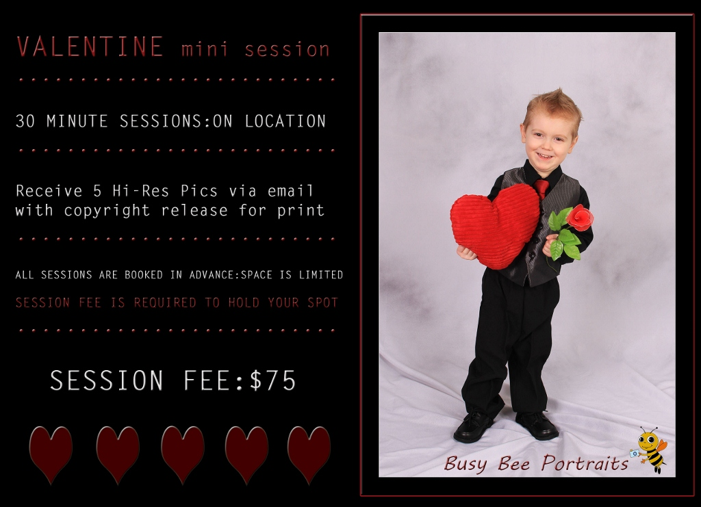 Busy Bee Portraits Valentine Mini Session