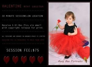 cute valentine mini sessions