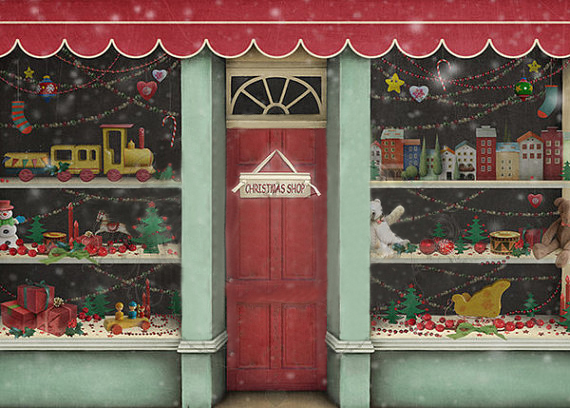 christmas shop background children s photography busy bee