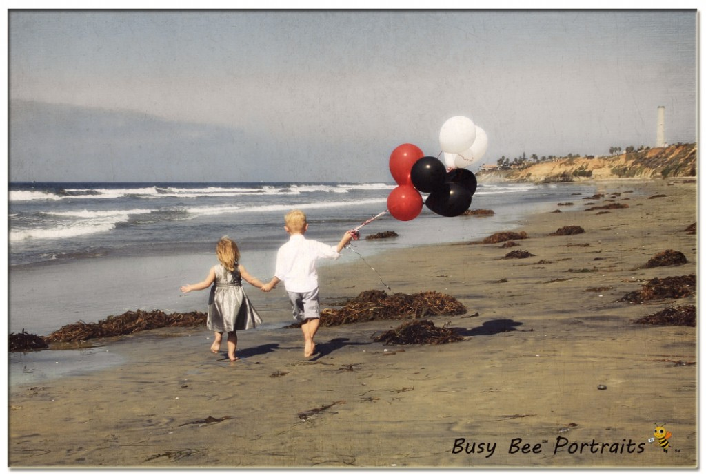end of summer special mini photo session on the beach, santa barbara, busy bee portraits