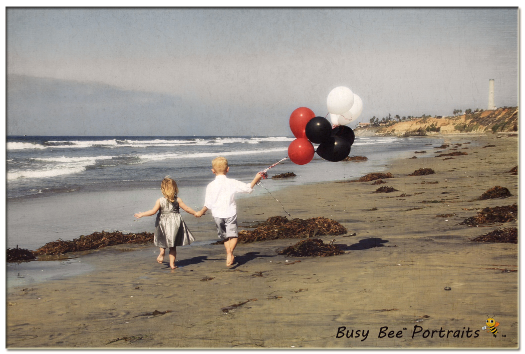 Kids vintage photo session on the beach, Santa Barbara Children's Photography