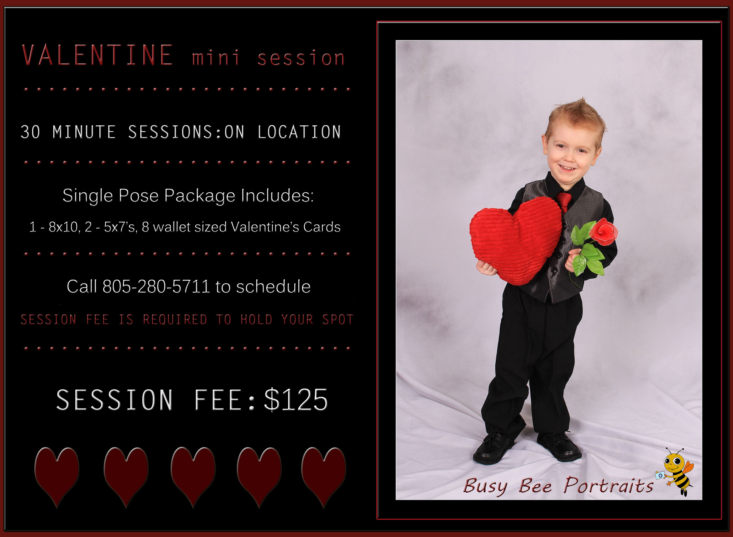 Valentine's Day Mini Session by Busy Bee Portraits, Santa Barbara Children's Photographer, Family photographer in Santa Barbara